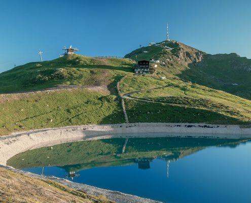 Der See unterhalb der Hornköpflhütte